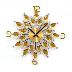 Jvd Zegar ścienny z kryształkami ht54 średnica 49 cm (8592818094064)
