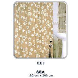 Zasłonka łazienkowa TXT 180x200 Sea Beżowa
