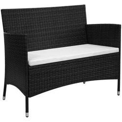 Vidaxl sofa ogrodowa z polirattanu 106x60x84, czarna (8718475501879)