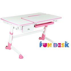 Amare Pink with Drawer - Ergonomiczne, regulowane biurko dziecięce z szufladą FunDesk