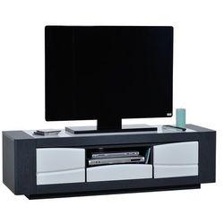 Sciae Stolik pod telewizor onyx, biało-szary, 175 cm - 15sj3391