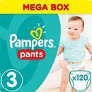 Pampers, Active Baby Pants Mega Box. Pieluchomajtki, rozmiar 3 Midi, 120szt - Pampers