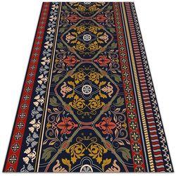 Dywanomat.pl Tarasowy dywan zewnętrzny tarasowy dywan zewnętrzny kwiatowy wzór boho