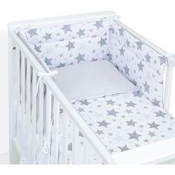 MAMO-TATO 3-el dwustronna pościel dla niemowląt 100x135 Starmix szary / szary