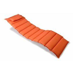 Wysokiej jakości poduszka na leżak pomarańczowa