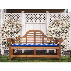 Ławka ogrodowa drewniana 180 cm poducha niebiesko-biała JAVA Marlboro (7105279797606)