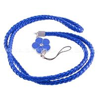 Długa smycz do telefonu na rękę szyję 46cm kwiat niebieska - niebieska, marki Hurtel