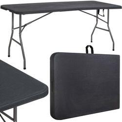 Stół składany cateringowy 180 cm bankietowy stolik ogrodowy, turystyczny walizka czarny marki Springos