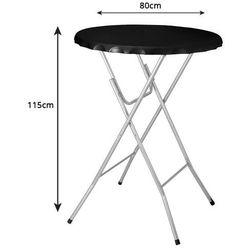 Stół koktajlowy bankietowy wysoki 115x80cm czarny