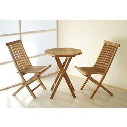 Zestaw mebli ogrodowych Gardenay z drewna tekowego 2 krzesła + 1 stół