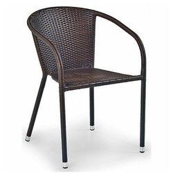 Rattanowe krzesło ogrodowe Lukka - brązowe, V-CH-MIDAS-KR