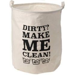 Płócienny worek, kosz na pranie,,Dirty? make me clean