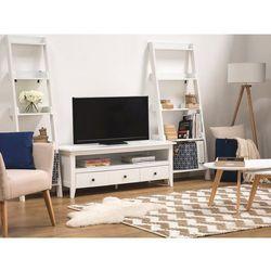 Szafka RTV biała 3 szuflady BERKELEY (4260580925315)