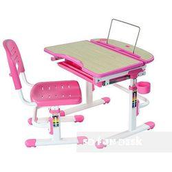 Sorriso pink - regulowane biurko dziecięce + krzesełko marki Fundesk