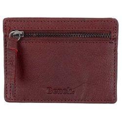 Portfel – leather card & coin holder buffalo brown tan (br11357) marki Bench
