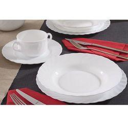 trianon white serwis obiadowy i kawowy 30/6 marki Luminarc