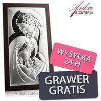 Srebrny obrazek święta rodzina 10 cm* 14 cm marki Valenti & co