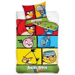 Dekoria Komplet pościeli Angry Birds, poszwa 160 × 200 cm, poszewka 70 × 80 cm