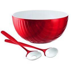 Komplet do sałatek mirage, czerwony - czerwony marki Guzzini
