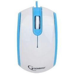 Gembird  mysz opto 1-scroll usb (mus-105-b) blue/white (8716309083744)
