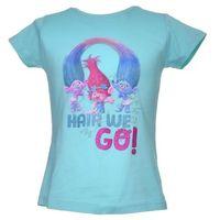 Licencja - inne T-shirt z wizerunkiem bohaterów bajki trolls - zielony ||kolorowy