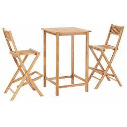 Zestaw drewnianych mebli ogrodowych - Connie 2X, vidaxl_44671