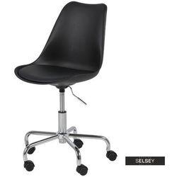 fotel biurowy djum czarny marki Selsey