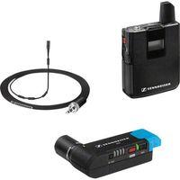 Mikrofon do kamery Sennheiser AVX-MKE2 SET-3-EU, Komunikacja: Radiowa, z kablem, z klipsem