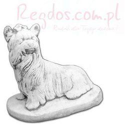 Figura betonowa pies długowłosy