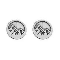 Sztyfty / kolczyki okrągłe góry, srebro 925 sz 92 marki 925.pl