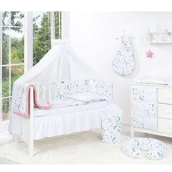 4-el dwustronna pościel dla niemowląt lux do łóżeczka 60x120 koliberki / pieguski szare - moskitiera marki Mamo-tato