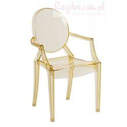 Krzesło Royal Jr. żółty transparent z kategorii Krzesła i stoliki