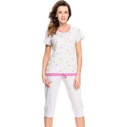 Dobranocka 7010 Piżama w kropeczki 3/4, grey-melange F - produkt z kategorii- Pozostała moda i styl