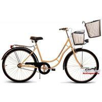 Rower Uniwersal Retro 26 kremowy z czarnymi dodatkami+ KOSZ 307 (metalowy zawieszany)