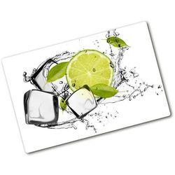 Wallmuralia.pl Deska do krojenia hartowana limonka z lodem
