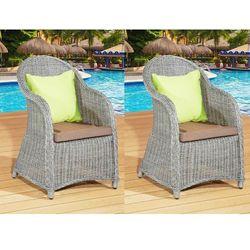 Komplet 2 foteli FORTE z okrągłego technorattanu, Outlet 68.2