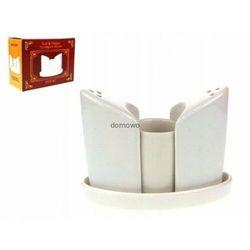 Tragar Ceramiczna solniczka i pieprzniczka z pojemnikiem