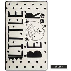Selsey dywan do pokoju dziecięcego dinkley mały miś biały 100x160 cm