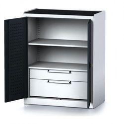 Szafa warsztatowa mechanic, 1170 x 920 x 500 mm, 1 półki, 2 szuflady, antracytowe drzwi marki B2b partner