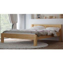 Łóżko drewniane wiktoria 140x200 z materacem kieszeniowym marki Meble magnat