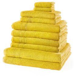 """Komplet ręczników """"New Uni"""" (10 części) bonprix żółty"""