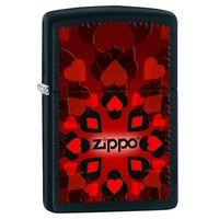 Zapalniczka  heart spade club, black matte marki Zippo