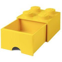 POJEMNIK LEGO 4 Z SZUFLADĄ ŻÓŁTY - LEGO POJEMNIKI, 4005