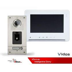 Zestaw Wideodomofonu Vidos stacja bramowa z czytnikiem linii papilarnych monitor 7'' S561Z_M690WS2