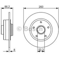 Bosch  tarcza hamulcowa; tylna, 0 986 479 684