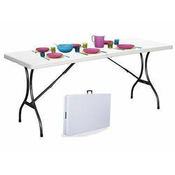 Modernhome Stół cateringowy, bankietowy, ogrodowy, składany, biały, 180 cm