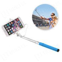 Wysięgnik monopod selfie z przyciskiem i kablem minijack niebieski - Niebieski, kup u jednego z partnerów