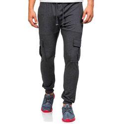 Antracytowe spodnie dresowe bojówki męskie Denley 0485 - ANTRACYTOWY marki ATHLETIC