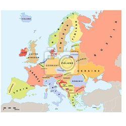 Fototapeta Europa mapa polityczna 2015 z etykietami i skali mapy., Redro z REDRO