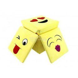 Nice life Pufa składana żółta